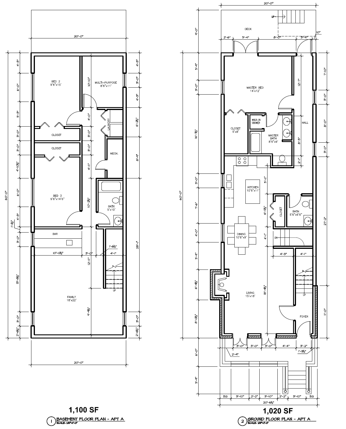 Four bedroom duplex house plans interesting bedroom for One bedroom duplex plans